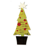 Sizzix - Basic Grey - Figgy Pudding Collection - Bigz Die - Tree, Christmas Layered