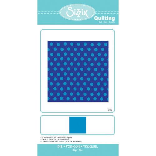 Sizzix - Quilting by Design - Bigz Pro Die - 6 Inch Finished Square