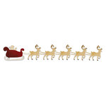 Sizzix - Sizzlits Decorative Strip Die - Die Cutting Template - Santa Sleigh with Reindeer