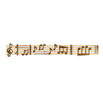 Sizzix - Sizzlits Decorative Strip Die - Sheet Music