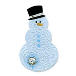 Sizzix - Bigz Die and Embossing Folder - Christmas - Snowman and Hat
