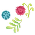 Sizzix - Decorative Accents Collection - Sizzlits Die - Medium - Flower Set 5
