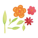 Sizzix - Decorative Accents Collection - Sizzlits Die - Medium - Flowers and Leaves Set