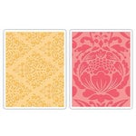 Sizzix - Textured Impressions - Decorative Accents Collection - Embossing Folders - Baroque and Flowertopia Set