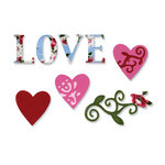 Sizzix - Vintage Valentine Collection - Sizzlits Die - Medium - Love Set 3