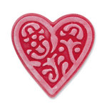Sizzix - Vintage Valentine Collection - Embosslits Die - Small - Heart, Lace