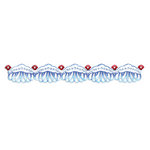 Sizzix - Sizzlits Decorative Strip Die - Vintage Valentine Collection - Die Cutting Template - Floral Bead Edging