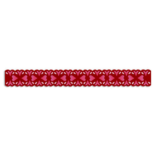 Sizzix - Vintage Valentine Collection - Sizzlits Decorative Strip Die - Floral Hearts