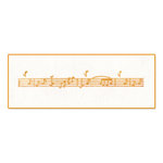 Sizzix - Ink-Its Collection - Letterpress Plate - Music Notes