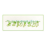 Sizzix - Ink-Its Collection - Christmas - Letterpress Plate - Stockings