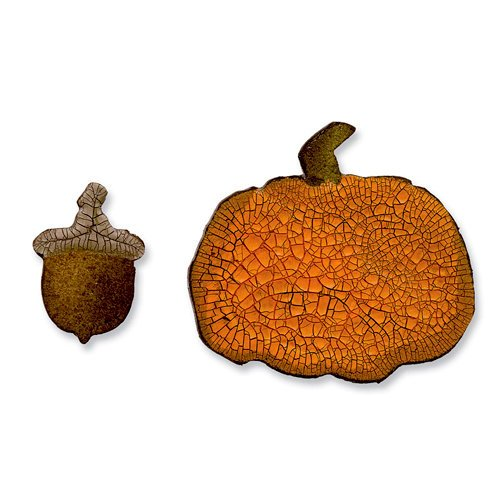 Sizzix - Tim Holtz - Alterations Collection - Movers and Shapers Die - Mini Acorn and Pumpkin Set
