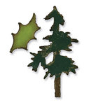 Sizzix - Tim Holtz - Alterations Collection - Movers and Shapers Die - Christmas - Mini Pine Tree and Holly Set