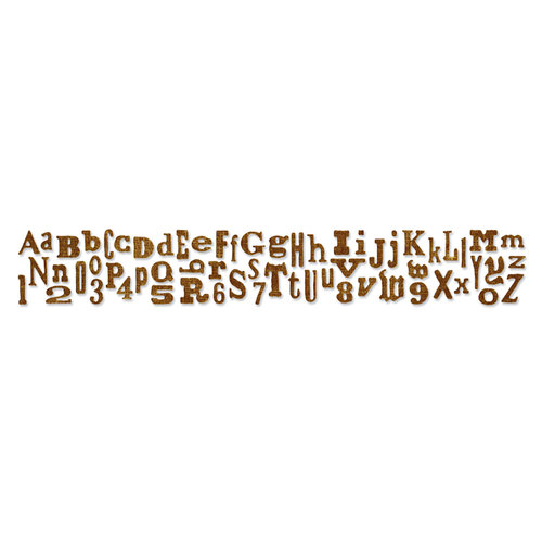Sizzix - Tim Holtz - Alterations Collection - Sizzlits Decorative Strip Die - Alphabetical