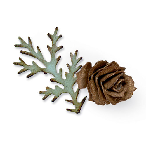 Sizzix - Tim Holtz - Alterations Collection - Bigz Die - Tattered Pinecone