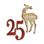 Sizzix - Tim Holtz - Alterations Collection - Movers and Shapers Die - Christmas - Mini Reindeer and 25 Set