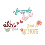 Sizzix - Greetings Collection - Sizzlits Die - Medium - Card Phrases Set 2