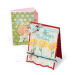 Sizzix - Bigz Die - Greetings Collection - Extra Long Die Cutting Template - Card Fronts, A6 Bracket and Ticket