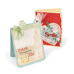 Sizzix - Greetings Collection - Bigz XL Die - Card Fronts, A6 Notched and Beveled