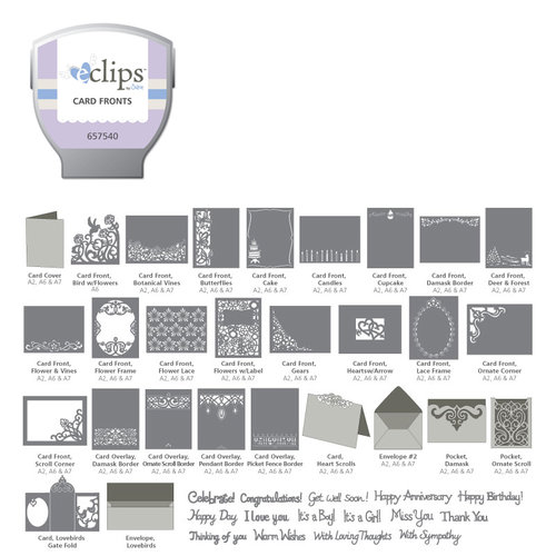 Sizzix - EClips - Electronic Shape Cutting System - Cartridge - Card Fronts