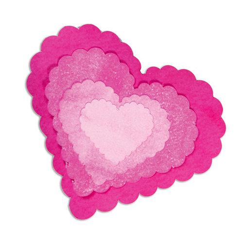 Sizzix - Framelits Die - Hearts, Scallop Set