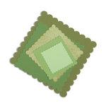 Sizzix - Framelits Die - Squares, Scallop Set