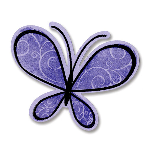 Sizzix - Framelits Die and Clear Acrylic Stamp Set - Butterflies