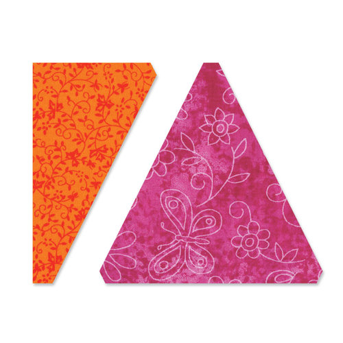 Sizzix - Bigz L Die - Quilting - Triangles, Isosceles and Right - 4.5 Inch Assembled
