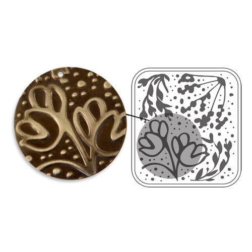 Sizzix - DecoEmboss Die - Vintaj - Embossing Folders - Wildflower Vines