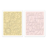 Sizzix - Textured Impressions - Embossing Folders - Clocks and Print Blocks Set
