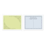 Sizzix - Textured Impressions - Embossing Folders - Flourish and Postcard Set