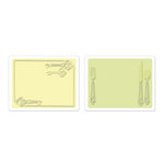 Sizzix - Textured Impressions - Embossing Folders - Place Setting and Keys Set