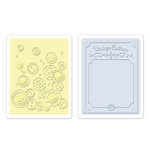 Sizzix - Textured Impressions - Embossing Folders - Vintage Buttons Set