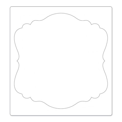 Sizzix - Bigz Pro Die - Die Cutting Template - Square, Ornate 3