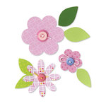 Sizzix - Happy Baby Collection - Bigz Die - Flower Layers and Leaves
