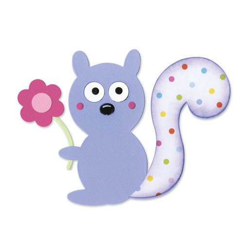 Sizzix - Happy Baby Collection - Bigz Die - Squirrel and Flower