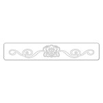 Sizzix - BasicGrey - Hello Luscious Collection - Sizzlits Decorative Strip Die - Flower Burst with Ribbons