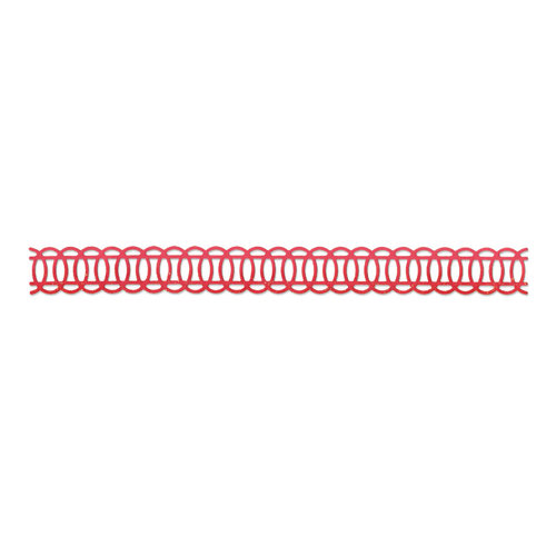 Sizzix - Basic Grey - Hello Luscious Collection - Sizzlits Decorative Strip Die - Ovals, Interlocking