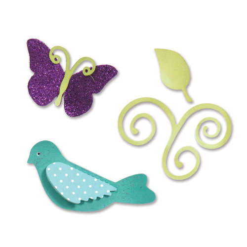 Sizzix - Sweet Treats Collection - Sizzlits Die - Medium - Birds and Butterflies Set