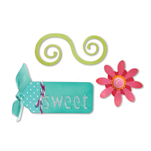 Sizzix - Sizzlits Die - Sweet Treats Collection - Die Cutting Template - Medium - Sweet Things Set