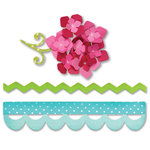 Sizzix - Sweet Treats Collection - Bigz Die - Borders and Hydrangeas