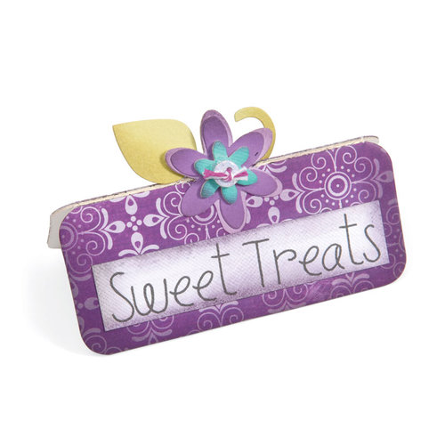 Sizzix - Sweet Treats Collection - ScoreBoards Die - Place Card and Flowers
