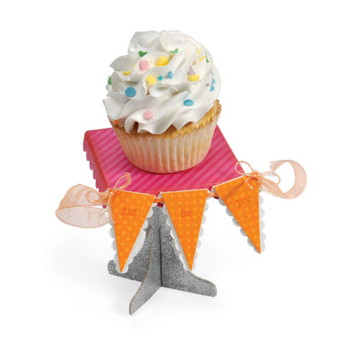 Sizzix - Sweet Treats Collection - ScoreBoards XL Die - Cupcake Stand and Pennant