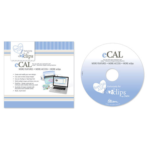 Sizzix - EClips - Sure Cuts A Lot (eCAL) Software for use with the EClips Electronic Shape Cutting Machine