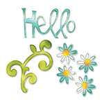 Sizzix - Sizzlits Die - Medium - Hello Set