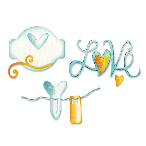 Sizzix - Sizzlits Die - Medium - Love Set