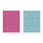 Sizzix - Textured Impressions - Bohemia Collection - Embossing Folders - Bohemian Lace Set
