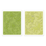 Sizzix - Textured Impressions - Bohemia Collection - Embossing Folders - Far Out Florals Set