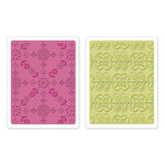 Sizzix - Textured Impressions - Bohemia Collection - Embossing Folders - Kaleidoscope Blooms Set