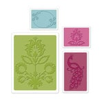 Sizzix - Textured Impressions - Bohemia Collection - Embossing Folders - Peacock Set