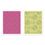 Sizzix - Textured Impressions - Bohemia Collection - Embossing Folders - Psychedelic Dreams Set